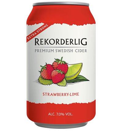 Rekorderlig Strawberry Lime Strong 7% 24x0,33 ltr.