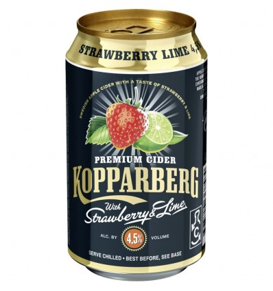 Kopparberg Strawberry Lime 4,5% 24x0,33 ltr.