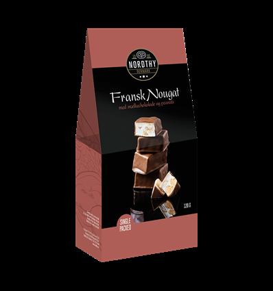 Nordthy Fransk nougat m peanuts & choko 120g