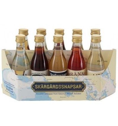 Skärgårdssnapsar Mini Collection 10 x 5cl 36%